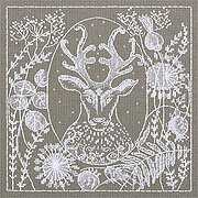 White Lace Deer - Cross Stitch Kit