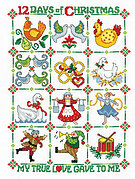 Partridge in a Pear Tree - Cross Stitch Pattern