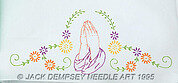 Praying Hands Perle Edge Pillowcases - Embroidery Kit