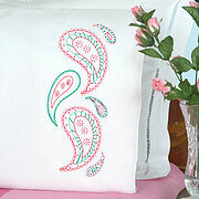 Paisley Pillowcases - Embroidery Kit