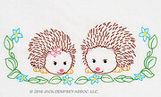 Hedgehogs Children's Pillowcases - Embroidery Kit