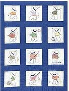 Little Boys Quilt Squares - Embroidery Kit