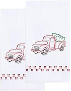 Old Truck Decorative Hand Towels - Stamped Embroidery Kit