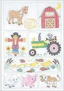 Barn Crib Quilt - Stamped Cross Stitch Kit