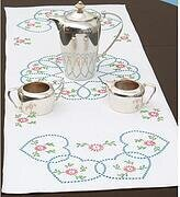 Starburst of Hearts Table Runner/Scarf Stamped Kit