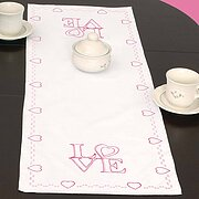 Love Table Runner - Valentines Embroidery Kit