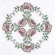 "Circle of Roses 18"" Quilt Blocks - Embroidery Kit"