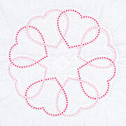 Circle of Hearts Quilt Blocks - Stamped Cross Stitch Kit