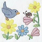 JACK DEMPSEY 741-12 SAMPLER QUILT FLOWERS