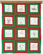 Ornaments Theme Quilt Blocks - Embroidery Kit