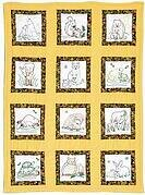 Wilderness Animals Theme Quilt Blocks - Embroidery Kit