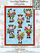 Moo-ey Christmas Ornaments - Cross Stitch Pattern
