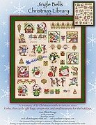 Jingle Bells Christmas Library - Cross Stitch Pattern