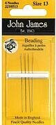 John James Beading Hand Needles Size 13