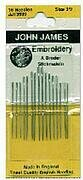 John James Crewel/Embroidery Hand Needles Size 3/9
