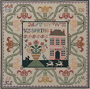 Spring in the Tulips - Cross Stitch Pattern