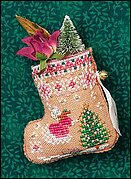 Gingerbread Mouse Fairy Stocking - Cross Stitch Pattern
