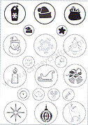 Joy Crafts Clear Stamp - Christmas