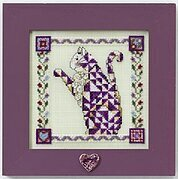Petunia Quilted Cat - Cross Stitch Kit