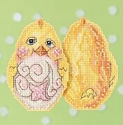 Yellow Chick - Jim Shore - Cross Stitch Kit