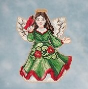 Angel with Cardinal - Jim Shore Beaded Cross Stitch Kit