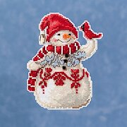 Snowman With Cardinal - Jim Shore - Cross Stitch Kit
