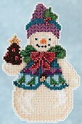 Pinecone Snowman - Jim Shore Beaded Cross Stitch Kit