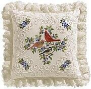 Birds & Berries Pillow - Candlewicking Embroidery Kit