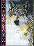 Wolf - Cross Stitch Kit
