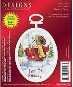 Let It Snow Mini - Beginner Cross Stitch Kit