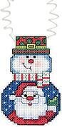 Snowman With Santa - Holiday Wizzers - Cross Stitch Kit