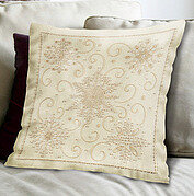 Snowflakes Pillow - Candlewicking Embroidery Kit