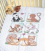 Animal Babes Quilt - Stamped Cross Stitch Kit