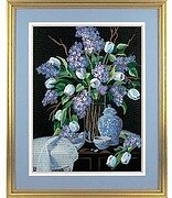 Lilacs and Lace - Crewel Embroidery Kit