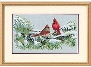 Winter Cardinals - Cross Stitch Kit