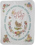 Sweet Baby Crib Cover - Stamped Cross Stitch Kit