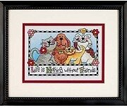 Life is Nothing Without Friends - Stamped Cross Stitch Kit