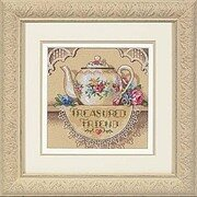 Treasured Friend Teapot - Cross Stitch Kit