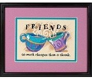 Cheaper than a Shrink Stamped Cross Stitch Kit