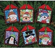 Christmas Pals Ornaments, Set of 6 - Cross Stitch Kit