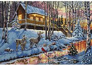 Winter Cabin - Cross Stitch Kit