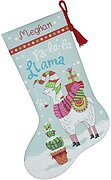 Llama Christmas Stocking - Cross Stitch Kit