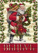 Believe In Santa - Christmas Cross Stitch Kit