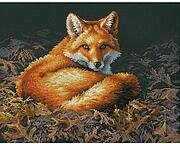 Sunlit Fox - Cross Stitch Kit