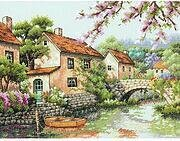 Village Canal - Cross Stitch Kit