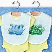 Little Pond Bib Pair - Stamped Cross Stitch Kit
