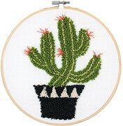 Prickly Cactus Pin - Punchneedle Kit