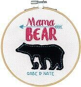 "Mama Bear - Dimensions Embroidery Kit with 6"" Hoop"