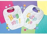 Cutie Patootie Bibs Stamped Cross Stitch Kit