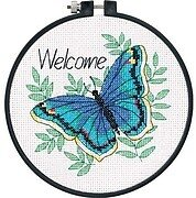 Welcome Butterfly Learn-A-Craft - Beginner Cross Stitch Kit